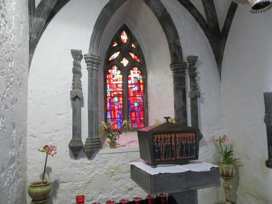 Holy Cross Abbey : The sanctuary of the now actively functioning Abbey...