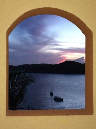 Marriott's Frenchman's Cove: View from a stairwell at sunset