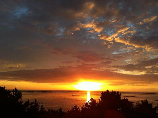Manoir de Lan Kerellec : beautiful sunset