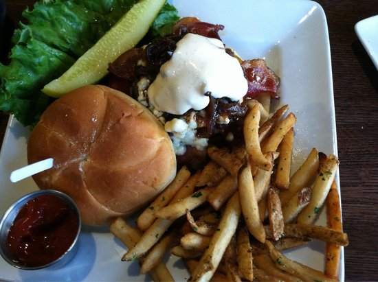 The Ale House Columbia: My husbands yummy burger