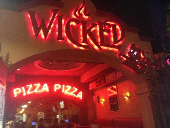 Outside of Wicked Pizza