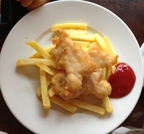 Foleys Restaurant & Bar: Kids fish and chips!