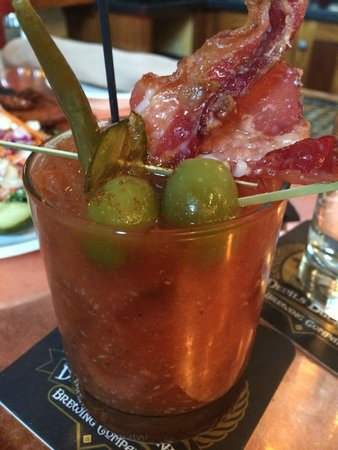 Devils Backbone Brewing Company: Bloody Mary- Made to order from a checklist ... the Bacon is a MUST HAVE!  TRUST ME!