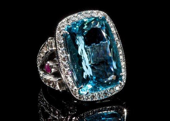 Castor Jewelry : Edwardian Aquamarine by Tom Castor