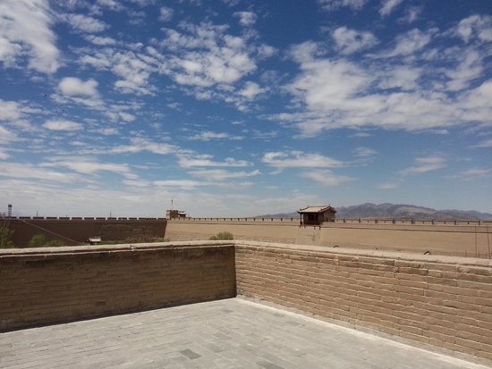 Jiayuguan Fortress: The view isn't bad, although the sun is VERY powerful there!
