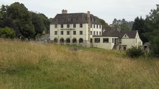 The Bear of Rodborough Hotel: A View of 'The Bear Hotel' from Rodborough Common