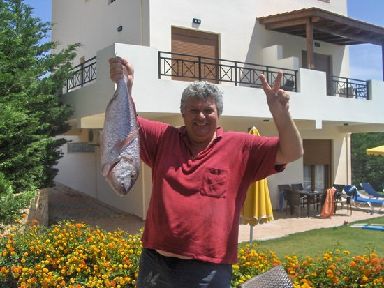 Blue Dream Luxury Villas: Alekos back from fishing
