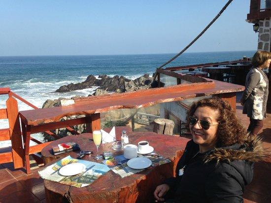 Terraza Puerto Cruz, un soleado día de Invierno