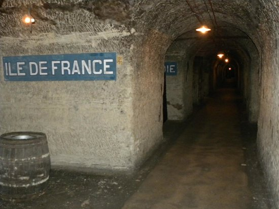 Champagnes Pommery : tunnel sotterraneo