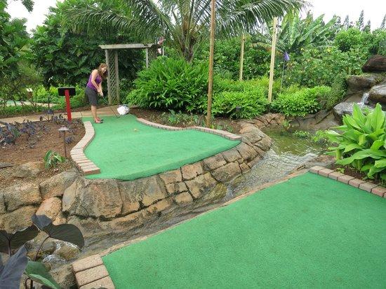 Kauai Mini Golf: One of the traps...