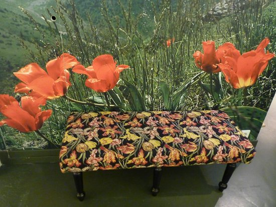 Amsterdam Tulip Museum: a bench