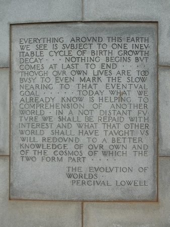 Lowell Observatory: On the mausoleum
