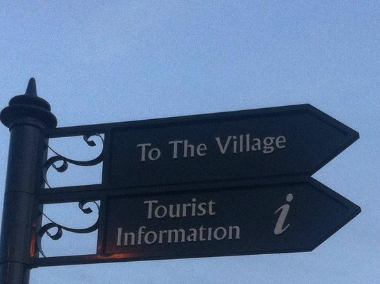 Bicester Village sign. Using the Albertus typeface from the other 'Village'  (in 'The Prisoner')