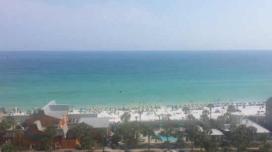 Sterling Shores: view of beach from balcony on 9th flr