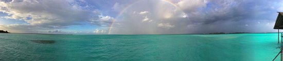 Cocoa Island by COMO: Rainbow right outside of our sundeck
