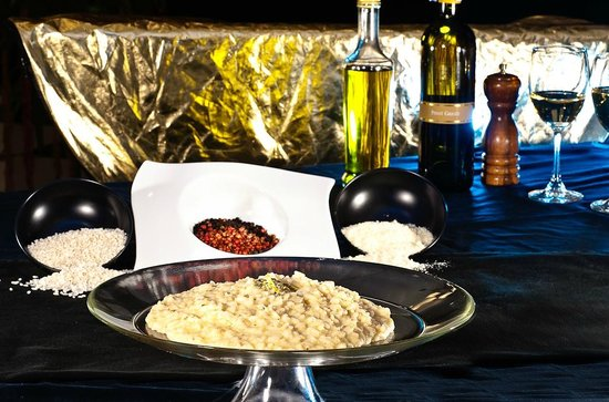 DaVinci Restaurant Nai Harn: risotto with white truffle and real gold