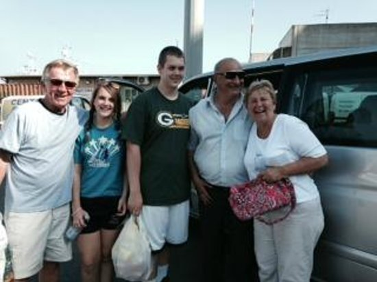 Aldo Limos: 4 of us with our tour driver Lallo