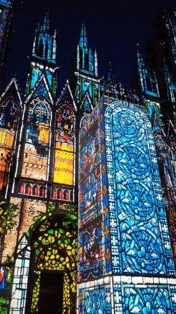 Cathédrale Notre-Dame de Rouen : Cathedral of light-Rouen