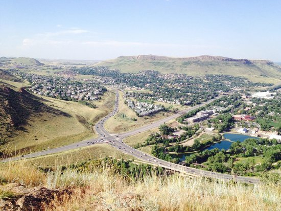 View of Golden, Co from Lookout Mountain