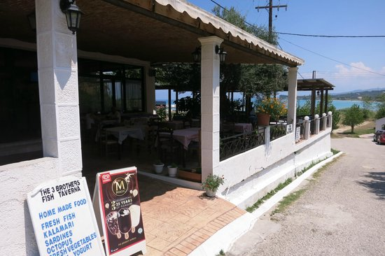 The Three Brothers: Restaurant from outside