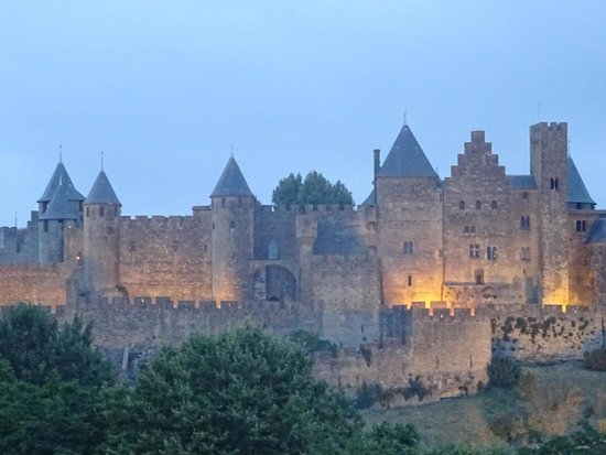 Carcassonne Guesthouse: our view from veranda