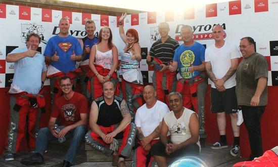 Daytona Sandown Park: The podium. group from Leoline Travel