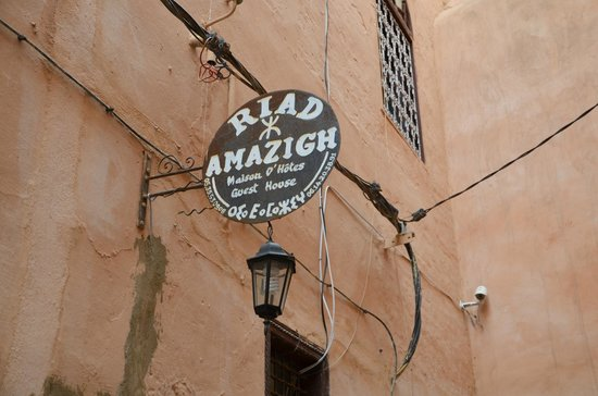 Riad Amazigh Meknes: the sign