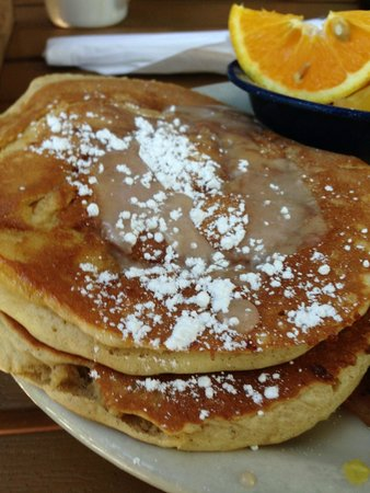 Kerbey Lane Cafe Central: Cinnamon Roll Pancakes - Yum!