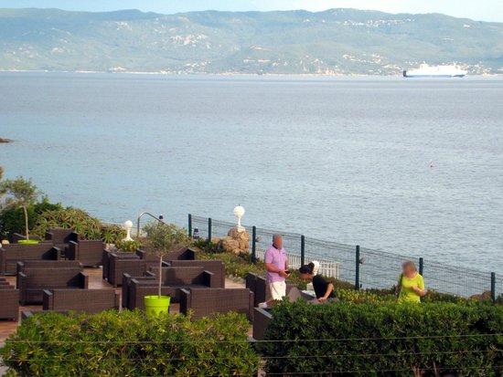 Hôtel Cala Di Sole : Il terrazzo sul mare