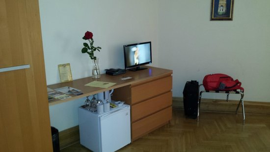 Charles Bridge Residence: Small TV but good picture.
