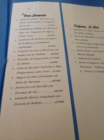 """Restaurante Tapería Yuste: Menú """"para compartir"""" y postres"""
