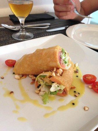 Restaurante Tapería Yuste: Fajita, que en realidad era un crêpe