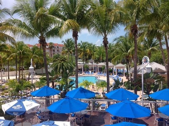 DoubleTree by Hilton Hotel Grand Key Resort - Key West: view from a second floor balcony.