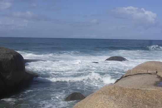 Na praia mole tem como fazer uma trilha e chegar a praia da Galheta!