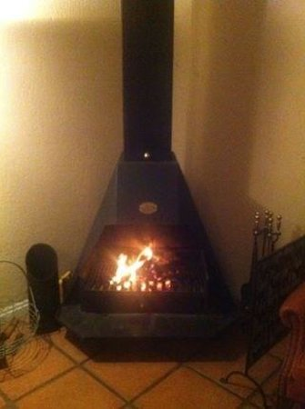 Stonecutters Lodge: Roaring fire in Stone Manor during our amazing dinner - romantic!