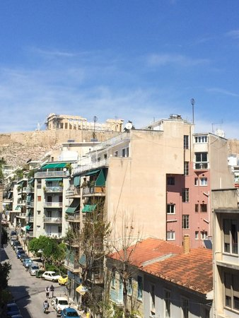 Divani Palace Acropolis: Twin Room with acropolis view