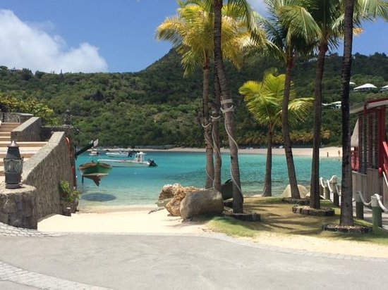 Eden Rock - St Barths: View just outside the Sand Bar restaurant
