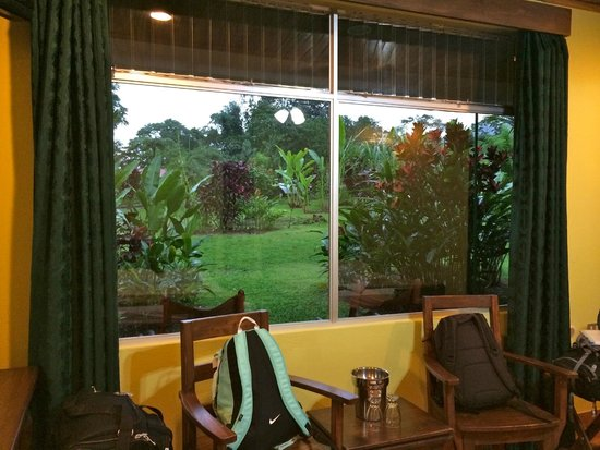 Volcano Lodge & Springs : right outside your room