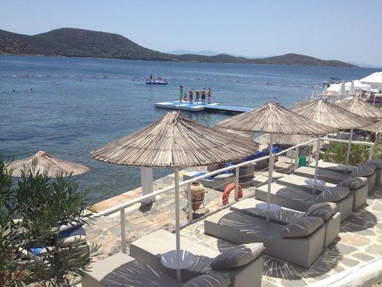 Doria Hotel Bodrum: Part of the beach club