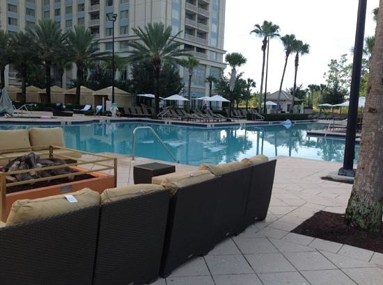 Waldorf Astoria Orlando: About 8am, before the sun hits the pool!