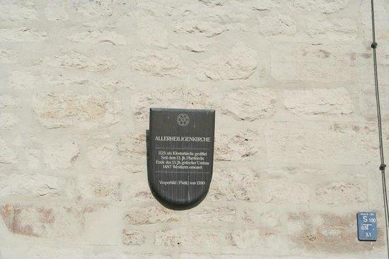 Allerheiligenkirche: Sign