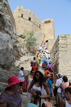 Acropolis of Lindos: Hellishly difficult Knight's Staircase