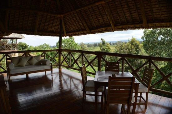 Neptune Ngorongoro Luxury Lodge : The balcony