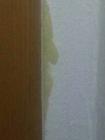 Gala Placidia Hotel : foam filling hole in door in hotel from hell