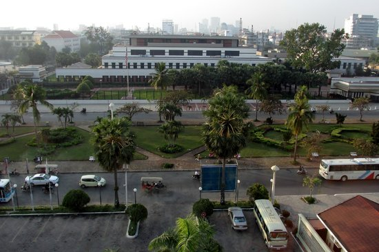 Sunway Hotel Phnom Penh: View from our 5th floor room-American Embassy