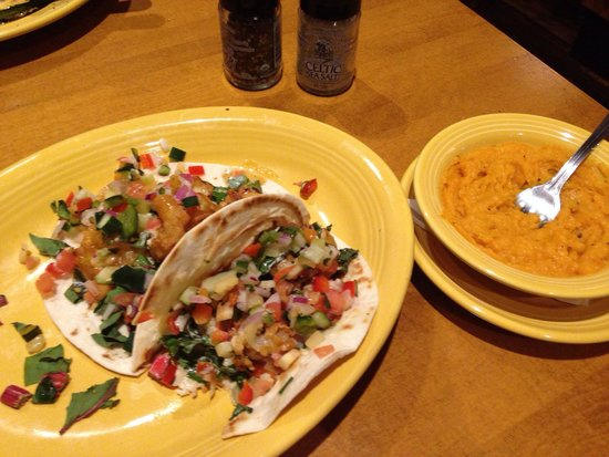 Tupelo Honey Cafe : When shrimp met taco&smashed sweet pot