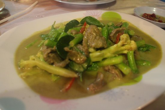 Linda Seafood: Green curry beef