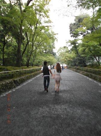 Kinkaku-ji (Goldener-Pavillon-Tempel): Camino al Pabellón dorado, Kyoto