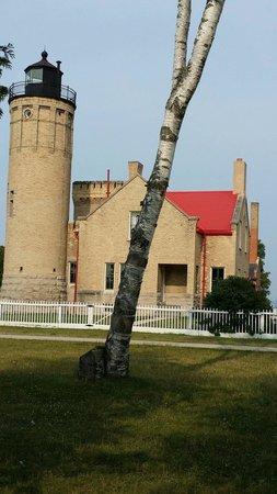 Old Mackinac Point Lighthouse: Old Mackinaw Lighthouse House,  southwestern side