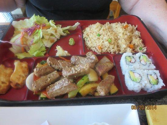 Little Tokyo: Bento Box with Hibachi Beef